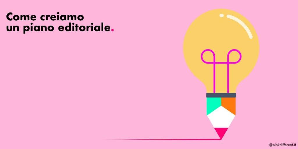 Come creare piano editoriale-blog- pensiero differente --pink-different