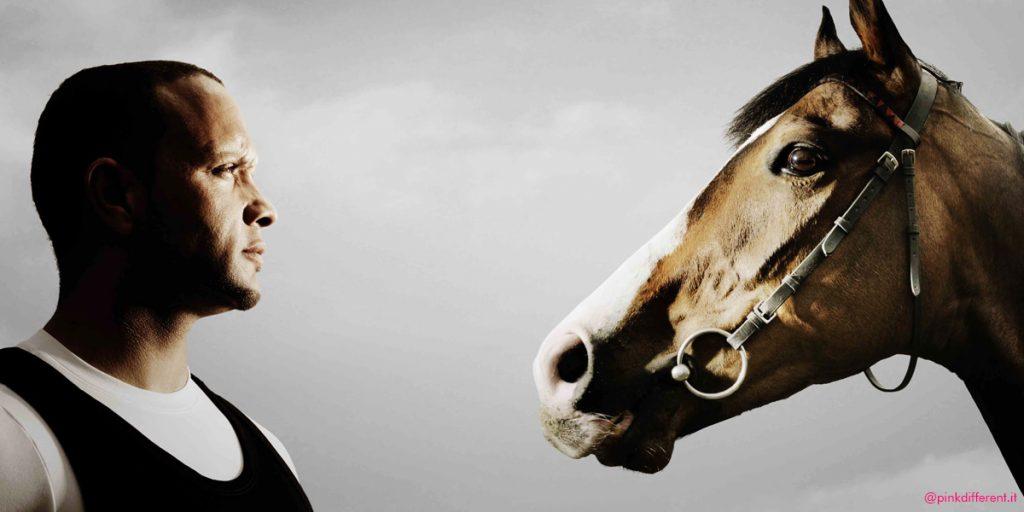 man against horse