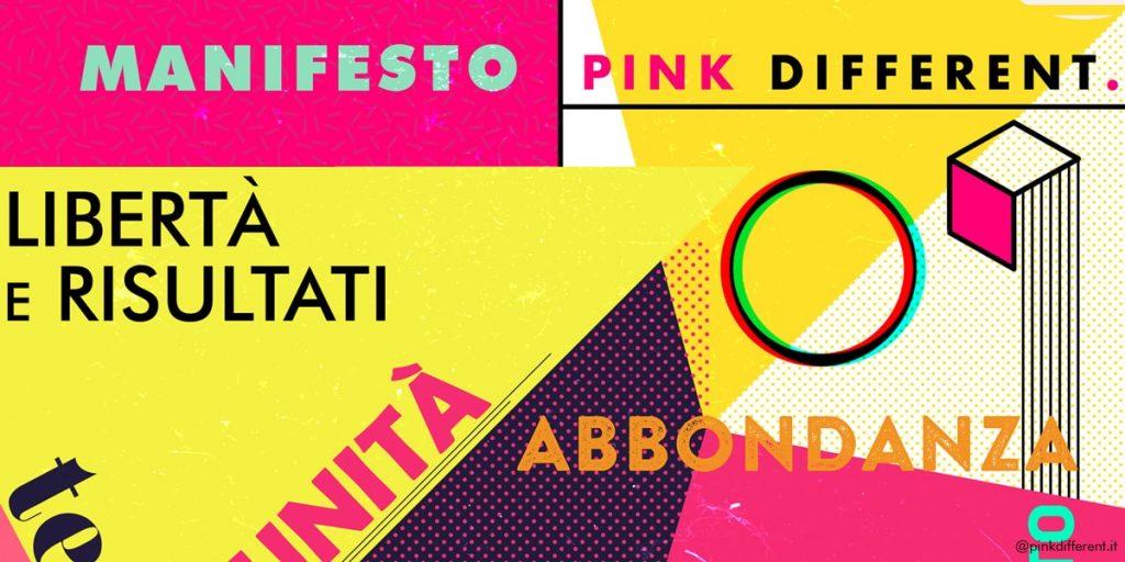 manifesto aziendale Pink Different